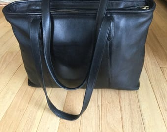 Coach XL Black Leather Business Bag Style 9819