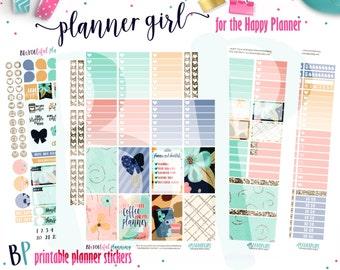 Planner Girl Weekly Kit // Happy Planner Printable Planner Stickers // Cut Line Files // Planner Printable //  Planner Stickers Printable
