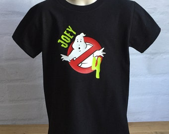 ghostbusters birthday shirt - ghostbusters shirt - ghostbusters party - personalized ghostbusters shirt-kids birthday shirt-ghostbusters