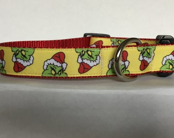 Grinch Christmas Collar