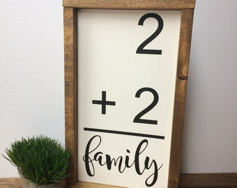 Family Flashcard. Wooden Sign. Rustic Decor