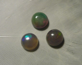 DISCOUNT Set of Black Welo Opal Cabochons, 0.35ct each