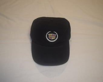 Vintage Cadillac Leather Strapback Dad Hat