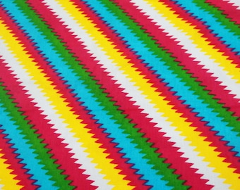 "Dressmaking Fabric Cotton Fabric For Sewing Designer Multicolor Cotton Dressmaking Stripe Printed 42"" Wide Craft Fabric By The Yard ZBC6445"