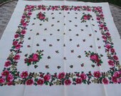 Vintage romanian wool shawl roumanie Russian Soviet Floral Shawl old shawl  Gift Wool LAINE Made in Japan HAND PRINTED