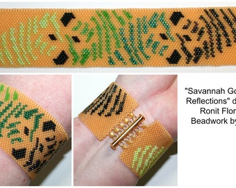 Savannah Gold Zebra Reflections Bracelet