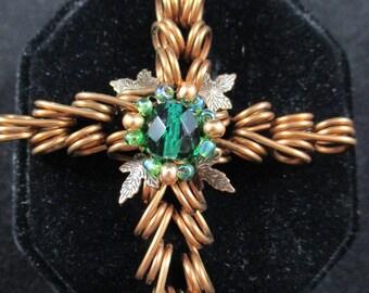 Filigree copper cross