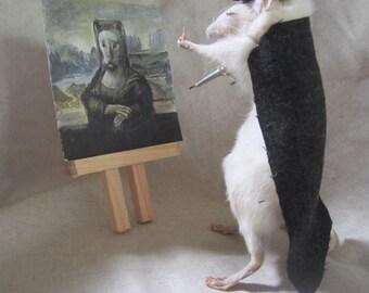 taxidermy rat painter taxidermy cabinet of curiosities odditties rat
