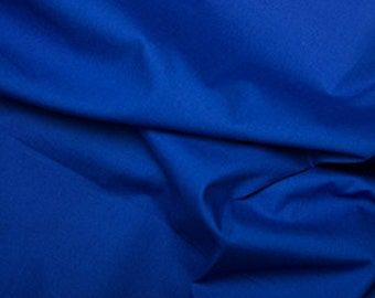 Royal Blue 100% Cotton Poplin Fabric