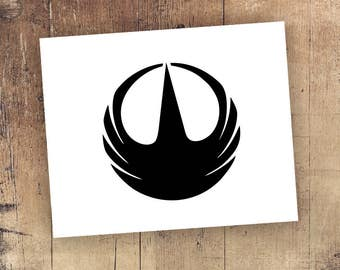 Rogue One Decal *Choose Size & Color* Star Wars Inspired Rogue One Sticker - Symbol Vinyl Star Wars Decals Stickers - Star Wars Sticker