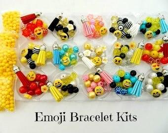 "Emoji Party Favors DIY Bracelet Kits- Makes 15 Bracelets - Birthday Party Favors Emoji Beads Emoticon Birthday Party ""Traditional Version"""