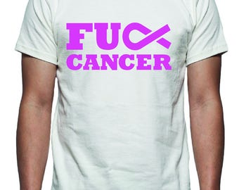 F Cancer Tee Shirt Design, SVG, DXF, EPS Vector Files for use with Cricut or Silhouette Vinyl Cutting Machines