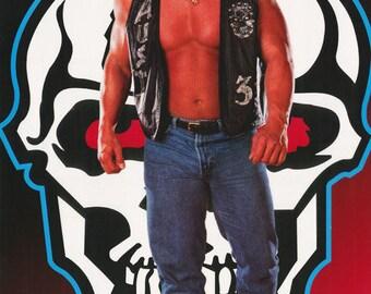 Wrestling WWF Stone Cold  Steve Austin Skull  Poster