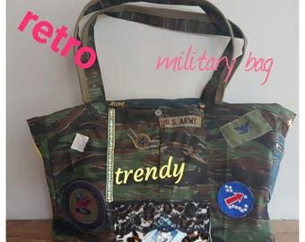 Camouflage Military Embellished Bag