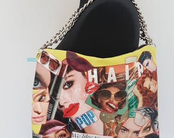 Fashion Magazine Funky Retro Shoulder Bag