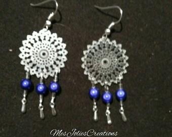 """""""Blue"""" earrings"""
