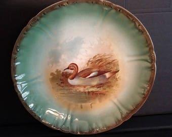 c.1890 Franz Anton Mehlem Bonn duck plate
