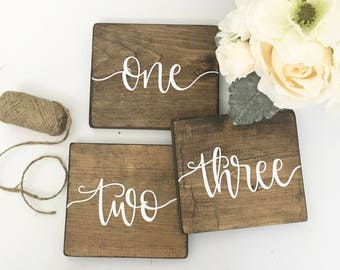 Table Numbers - Wood Sign