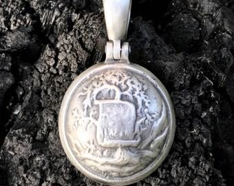 Sterling Silver Confederate ALABAMA Button (AB7B) Civil War Relic Pendant