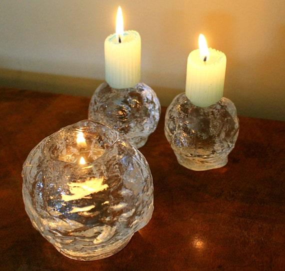 kosta boda snowball vintage kosta boda snowball candle holders 3 ice crystal