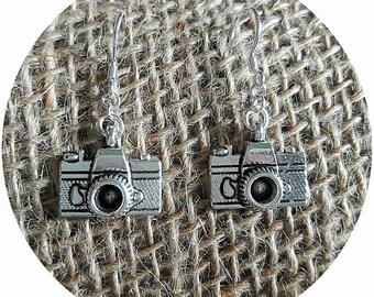 Vintage Elements Camera Earrings