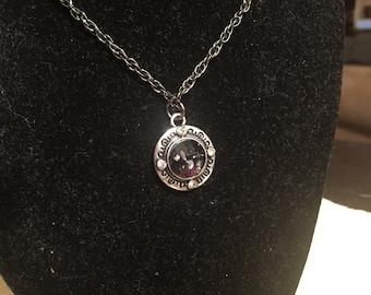 Iridescent charm necklace