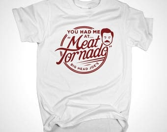 Ron Swanson Parks and Recreation meat tornado inspired design