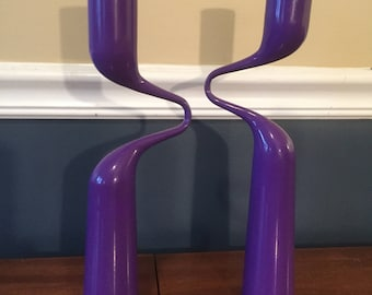 Purple Mikaela Dorfel Double Candle Holder