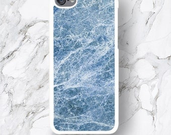 Blue Marble Pattern iPod Touch 6 Plus Case, Blue Ocean Print ipod touch 6G 5G 4G Case, 6th 5th 4th generation iPod itouch Cover