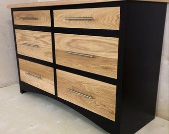 Oak Chest of Drawers, Black Chest of Drawers, Dresser of Drawers, Modern Chest of Drawers,
