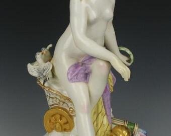 """Antique Large 13"""" KPM Figurine """"Venus in Chariot"""""""