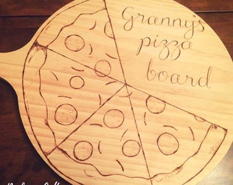 Pizza board, custom pizza design, pizza gift, serving platter, gifts for men, best man gift, fathers day gift, gift ideas for dads, for him