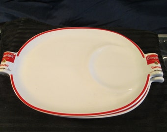 Three Vintage Campbell's Soup Plates by Westwood from the year 1994. Free Shipping.
