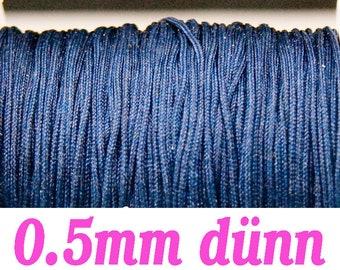 10m macrame belt 0.5, dark blue #4091
