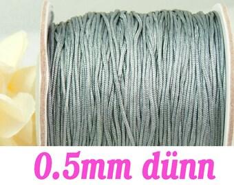 10m macrame belt 0.5, dark grey #4092