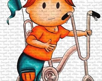 Shy's Bike Digital Stamp By Sasayaki Glitter