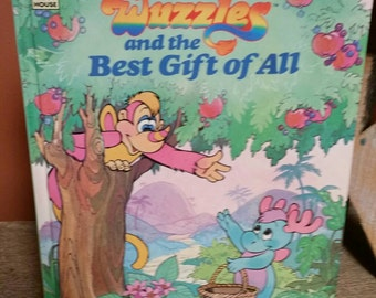 Wuzzles Vintage 1986 Book The Best Gift of All/Walt Disney Productions/Collectible Book/1980s Cartoon Characters/By Elenor Hudson/Retro 80s