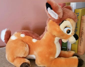Bambi 14 Inch Plush Toy/Authentic Disney Store Exclusive/Original Tag Attached/Collectible/Nursery/Baby Shower Decor/Baby Deer Bambi