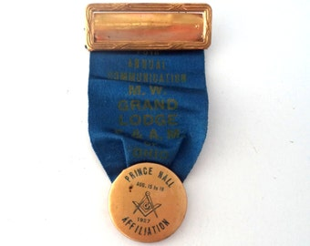 SALE Masonic Ribbon Badge 78th Annual 1927