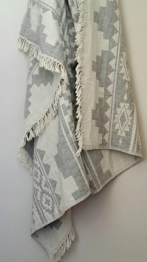 aztec merino wool blanket wool throw blanket bohemian. Black Bedroom Furniture Sets. Home Design Ideas