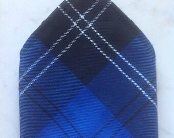 Ramsay New Blue Scottish Tartan Gents Pocket Square Handkerchief