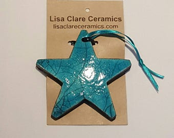 Handmade Raku Decorative Star