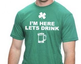 Lets Drink St. Patricks day Shirt Unisex Party leprechaun