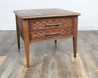 Vintage Mid Century Square Side table/End table