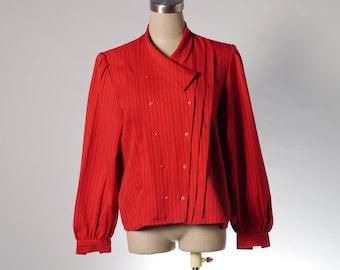 Two Dollars Sale - Vintage red stripe blouse
