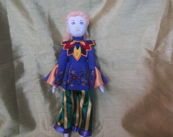 Alice Through the Looking Glass, Alice doll, Doll Alice, doll Alice in China dress, Alice toy, Alice in wonderland, Decor doll Alice textile