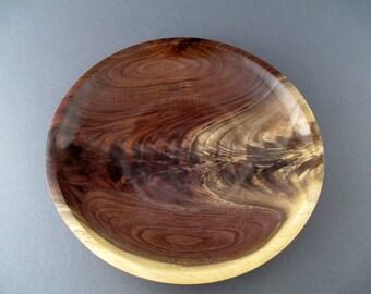 shallow walnut crotch bowl #549
