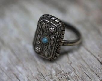Turkish antique filigree ring