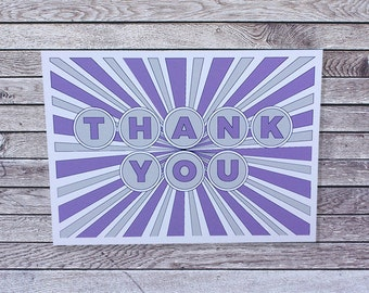 Thank You Card / Single or Pack of Thank You Cards (013)