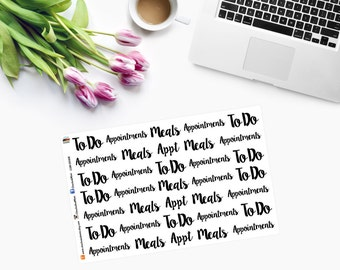 To Do, Meals, Appointments Planner Stickers CAM00168